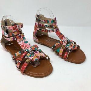 Boho Gladiator Sandals 7.5 Tribal Aztec SHoes 39